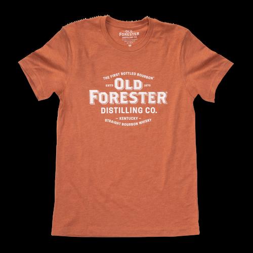 Old Forester Classic Logo T-Shirt - Heathered Orange