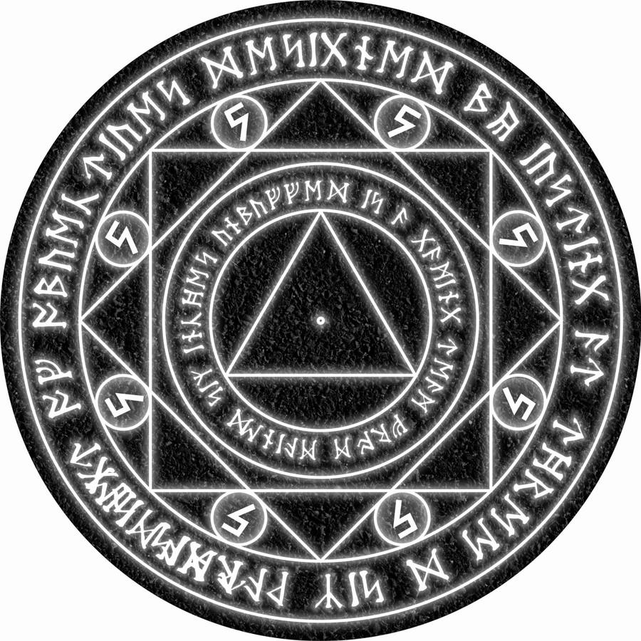 Neoprene Objectives - Asphalt Spell Circle