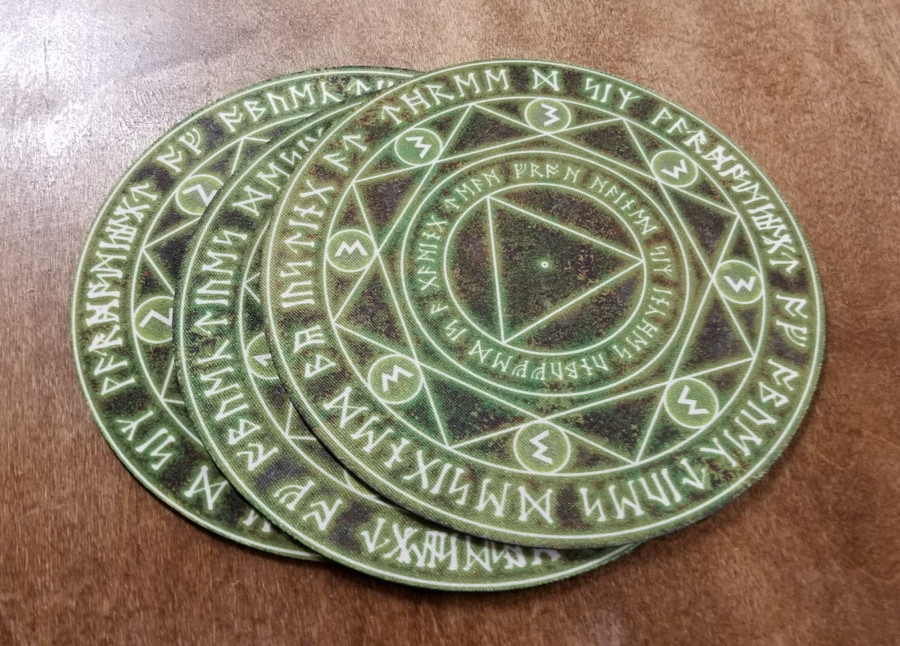 "Overstock - 6"" Yellow Spell Circle over Swamp"