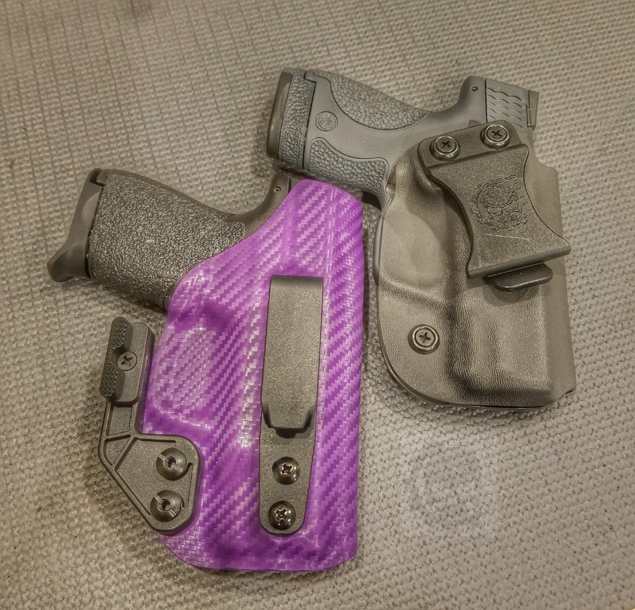 Quickie V2 in CF Purple and IWB in Gray