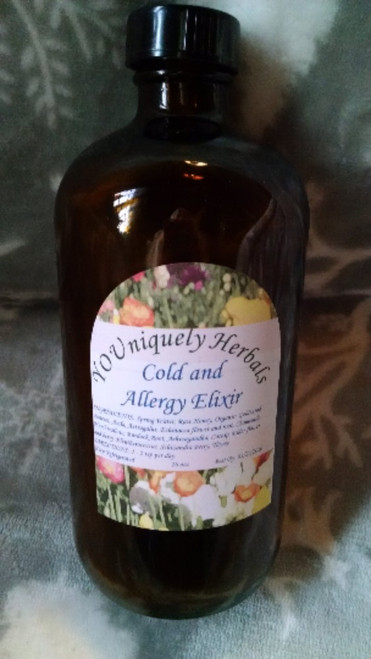 Organic Cold and Allergy Elixir