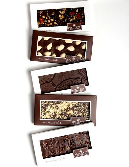 5 Organic Chocolate bars 100g [#17-41]