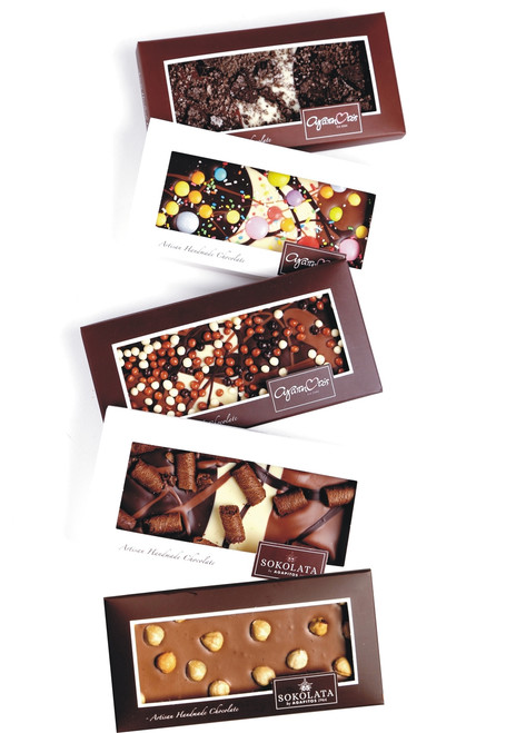 5 Chocolate bars 100g with toppings  [#17-11]