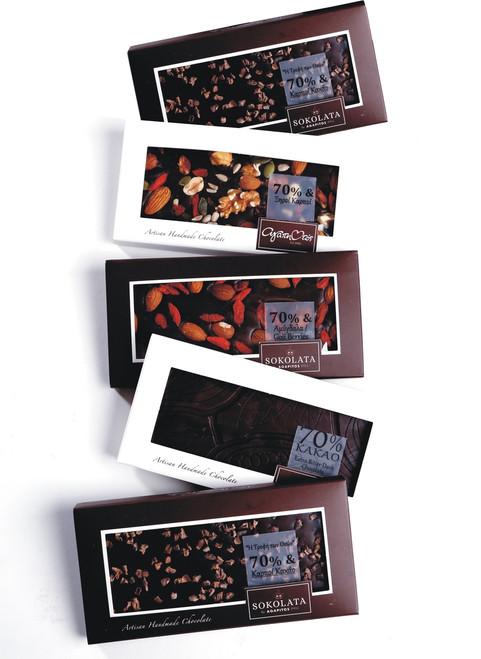 5 Chocolate bars 70% cocoa 100g [#17-15]