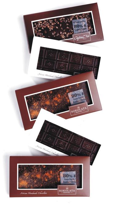 5 Chocolate bars 80% cocoa 100g [#17-16]
