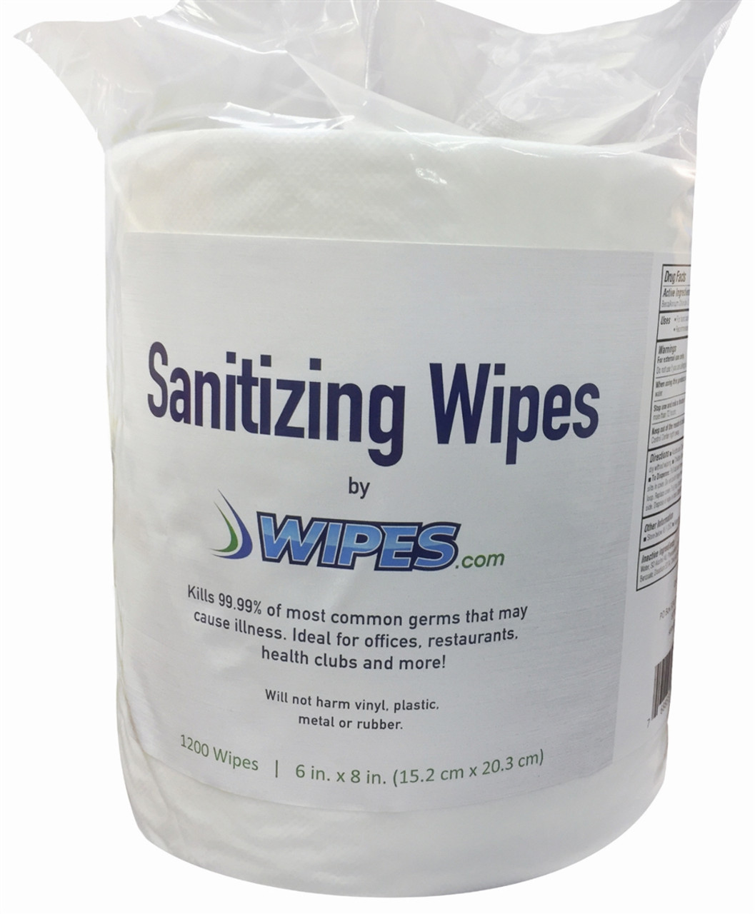 Wipes.com Hand Sanitizing Wipes - 1200 Count/4 Rolls