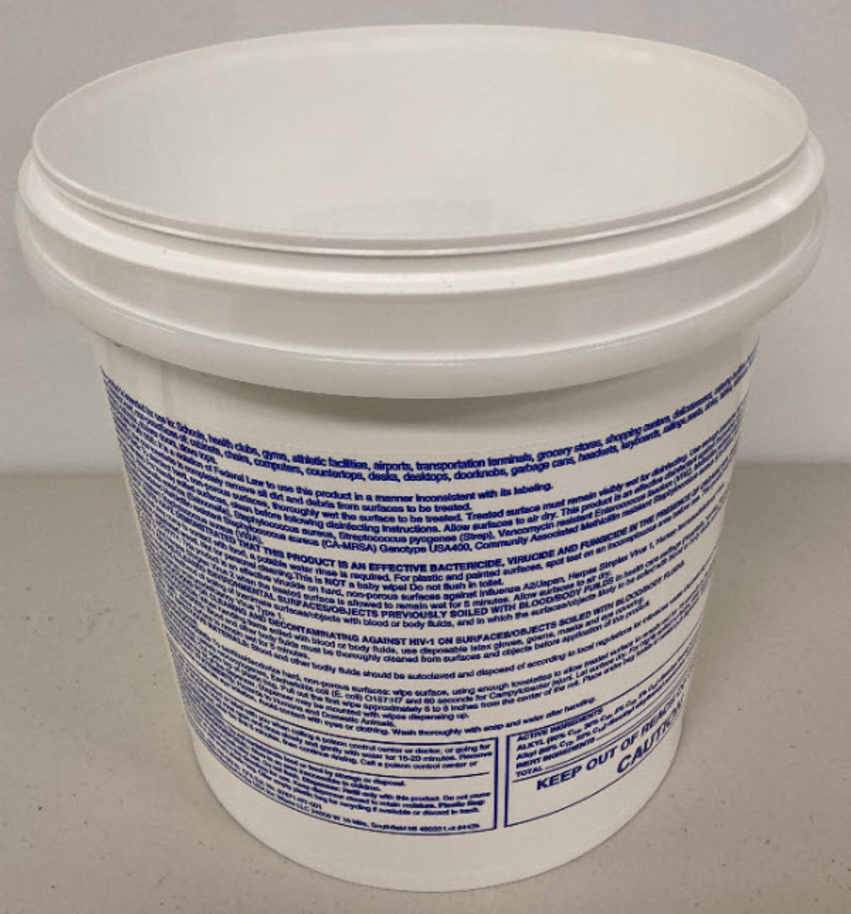 Empty Bucket Dispenser - Disinfecting Label