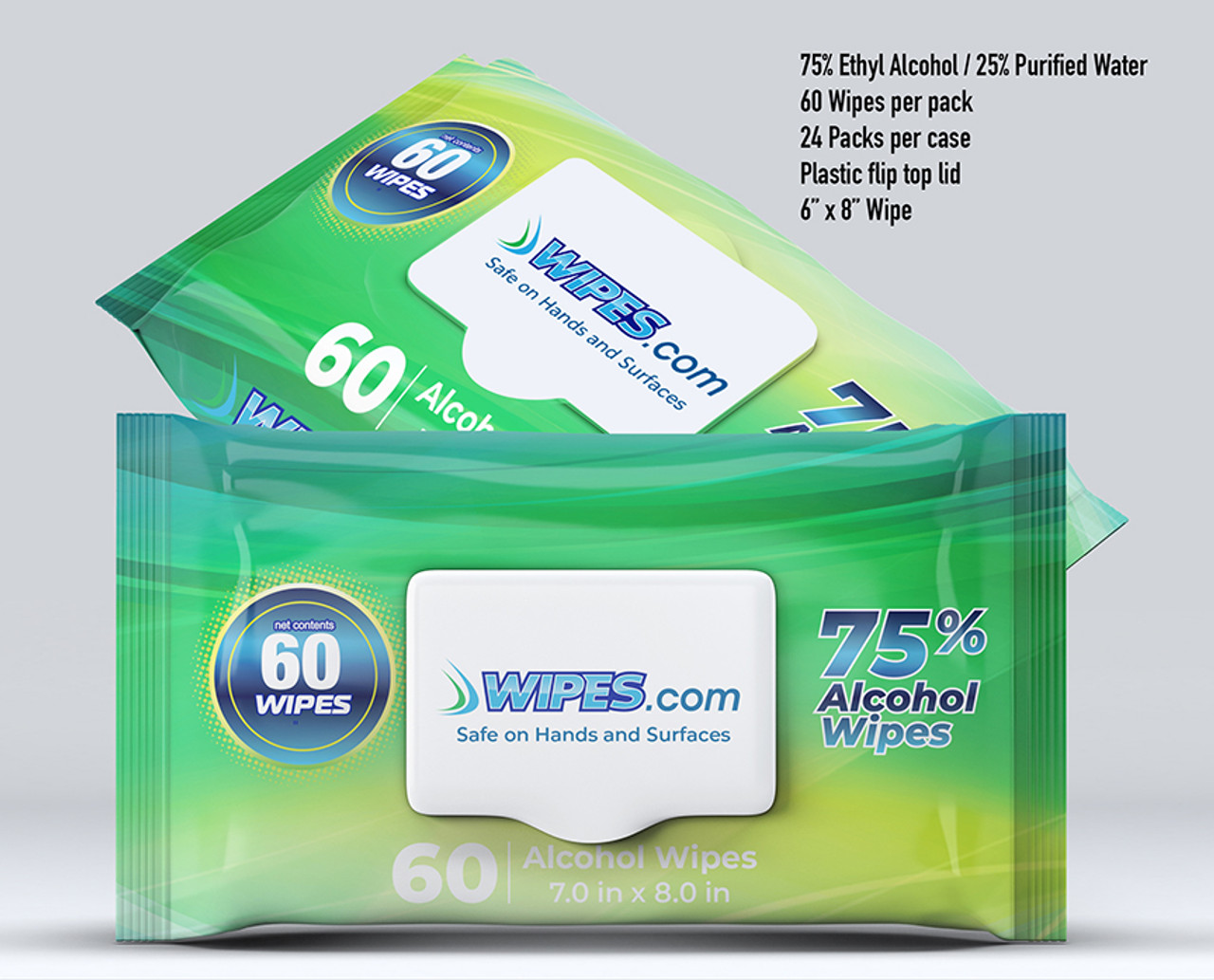 Wipes.com Alcohol Wipes Pallet - 65 Boxes