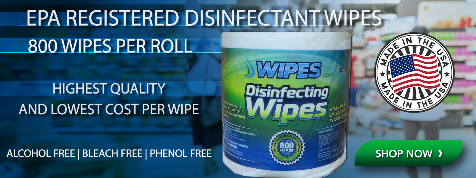 EPA Registered Disinfectant Wipes
