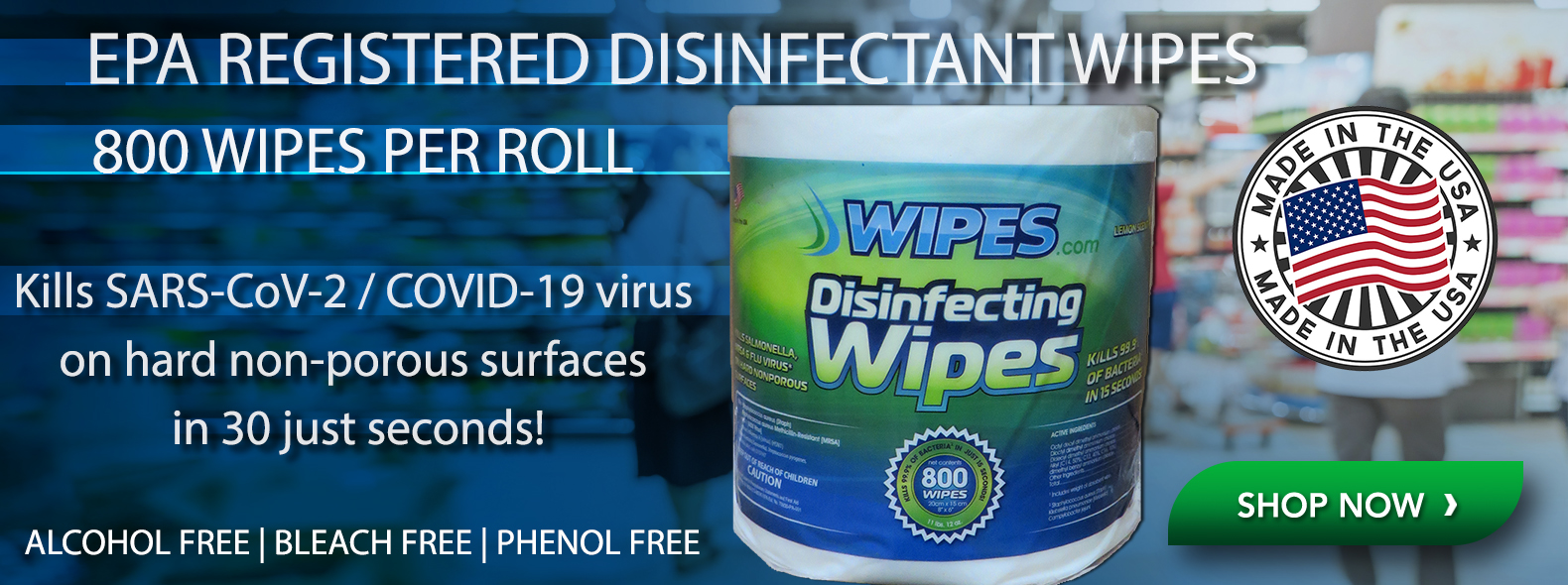 Show EPA Registered Disinfectant Wipes Today