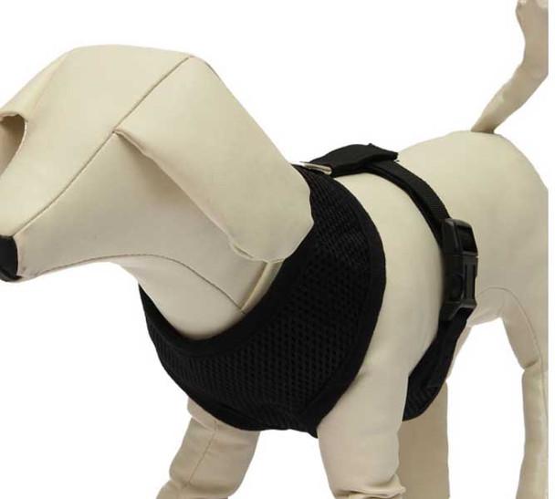 Black Soft Mesh Dog Harness