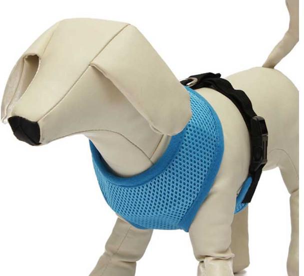 Blue Soft Mesh Dog Harness