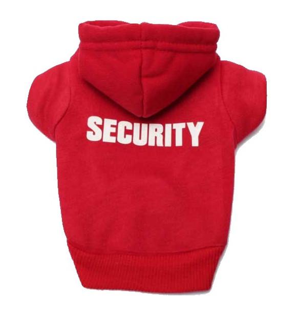 Red Security Dog Hoodie