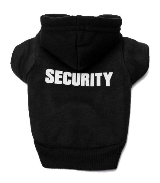 Black Security Dog Hoodie