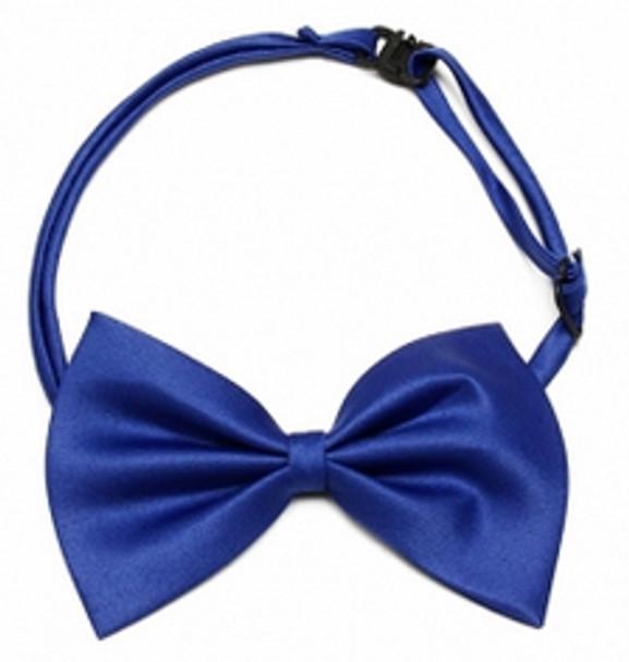 Blue Shiny Dog Bow Tie