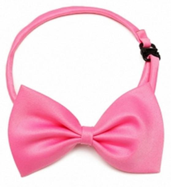 Dark Pink Shiny Dog Bow Tie