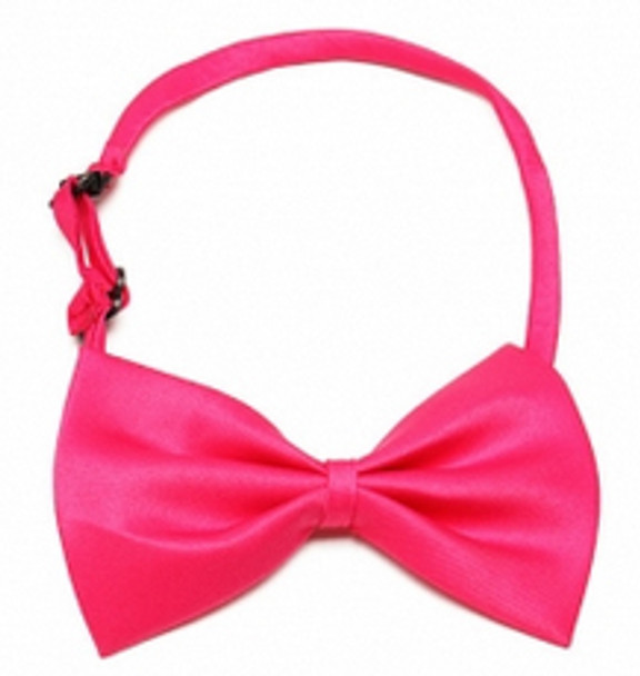 Rose Red Shiny Dog Bow Tie