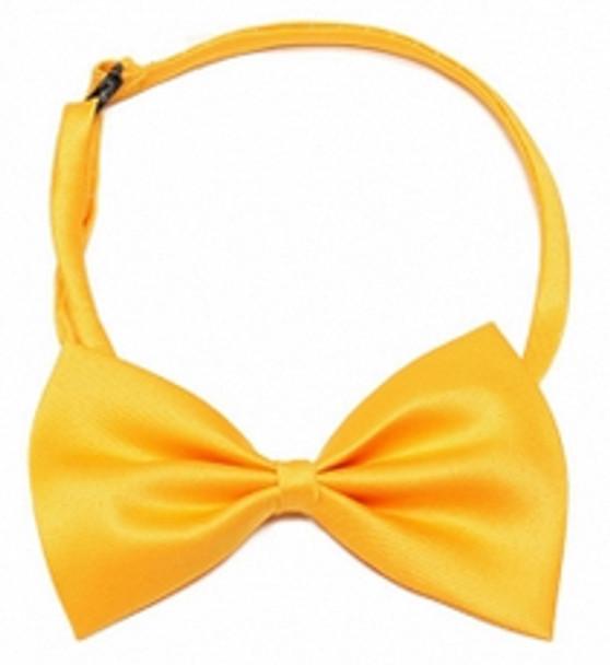 Golden Yellow Shiny Dog Bow Tie