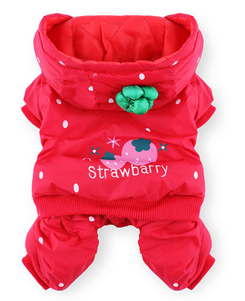 Red Strawberry Dog Jumpsuit