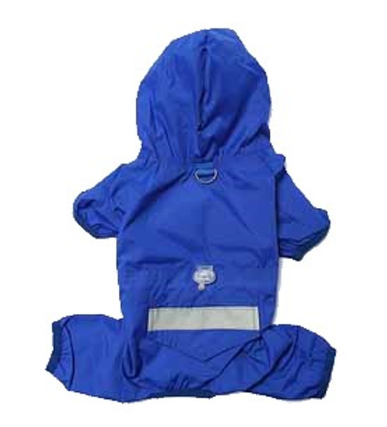 Blue Lightweight Dog Rainsuit