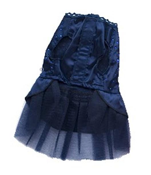Dark Blue Elegant Dog Wedding Dress