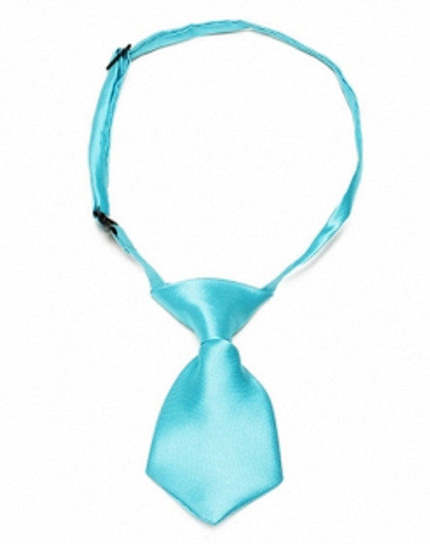 Blue Shiny Dog Neck Tie