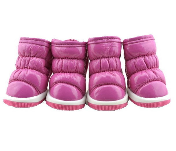 Pink Fleece Lined Dog Snow Boots