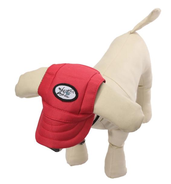 Red Visor Dog Baseball Cap