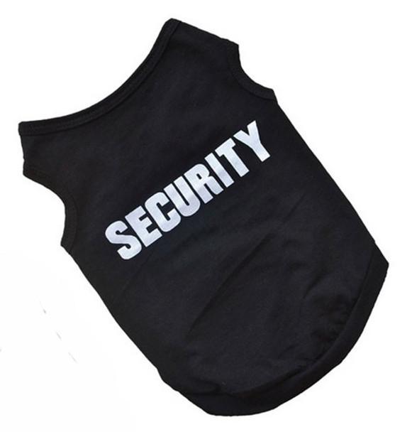 Black Security Dog Vest