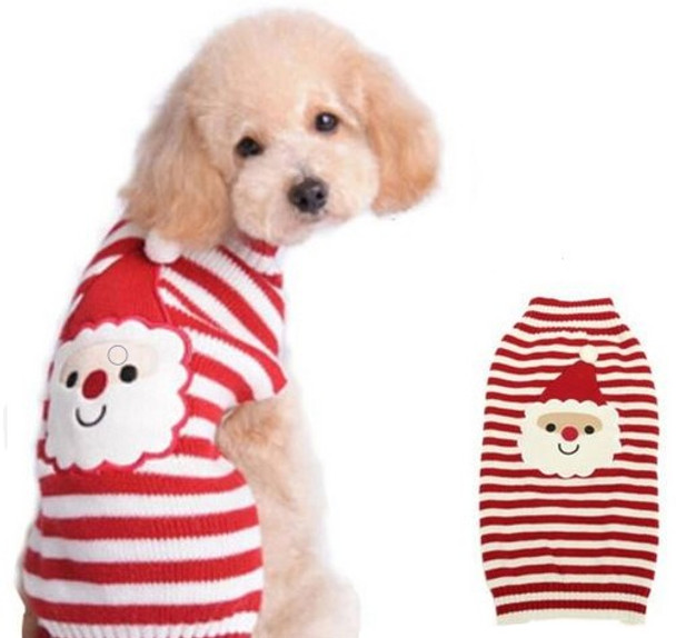 Santa Claus Knitted Christmas Dog Jumper