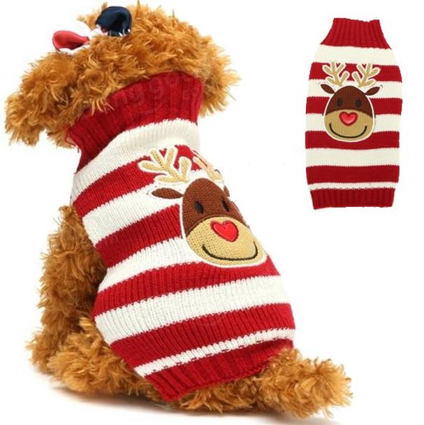 Reindeer Knitted Christmas Dog Jumper