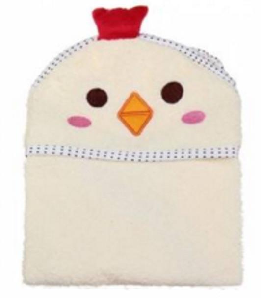 Beige Chicken Design Dog Bathrobe Towel