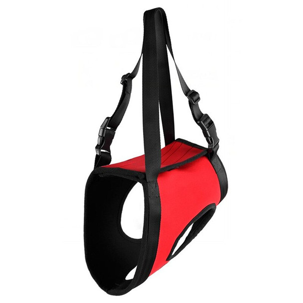 Red Hind Legs Support Dog Hoist Harness