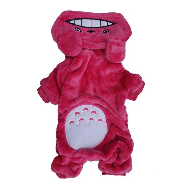 Pink Soft Fleece Animal Character Dog Onesie Pyjamas