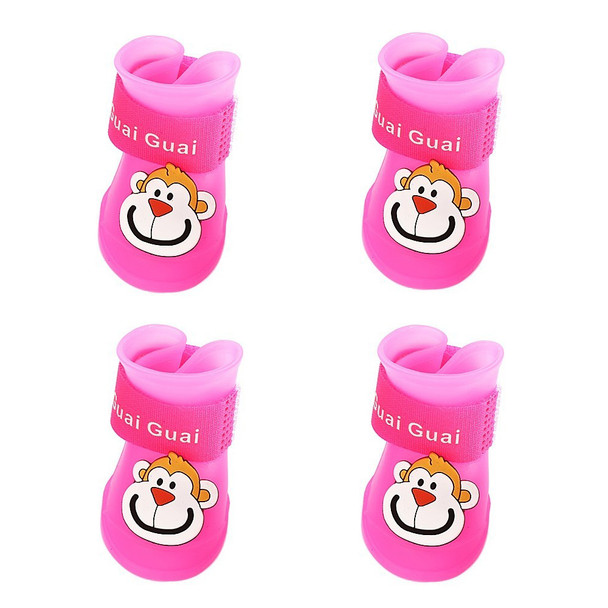Pink Monkey Dog Wellies