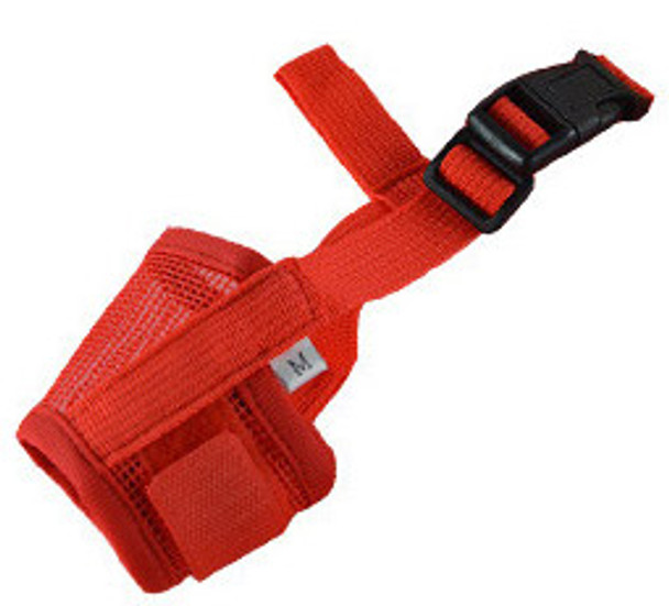 Red Mesh Dog Muzzle