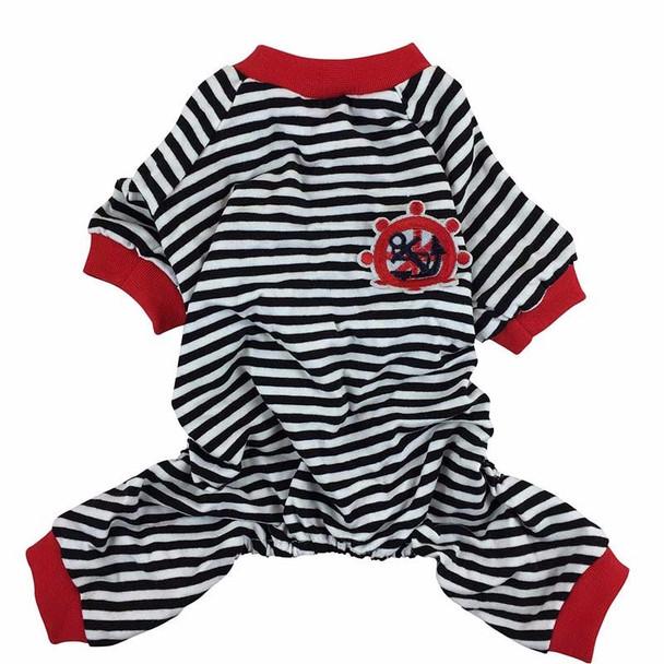 Black Striped Sailor Dog Pyjamas