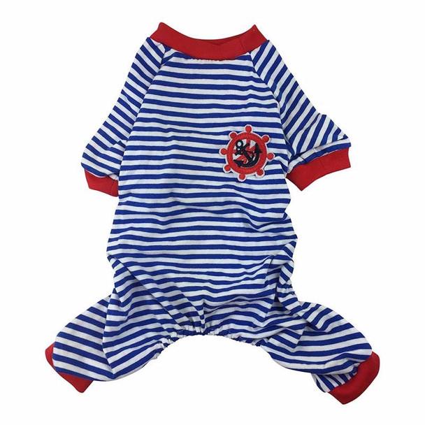 Blue Striped Sailor Dog Pyjamas
