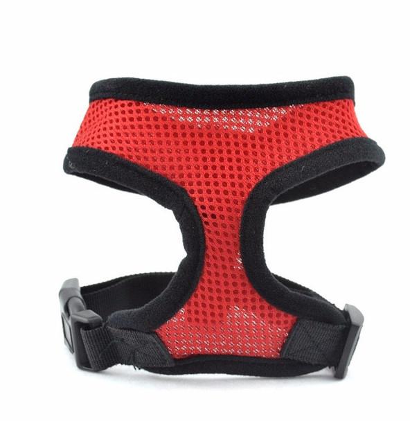 Red Soft Nylon Dog Harness
