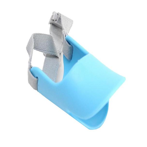 Blue Silicone Duck Mask Dog Muzzle