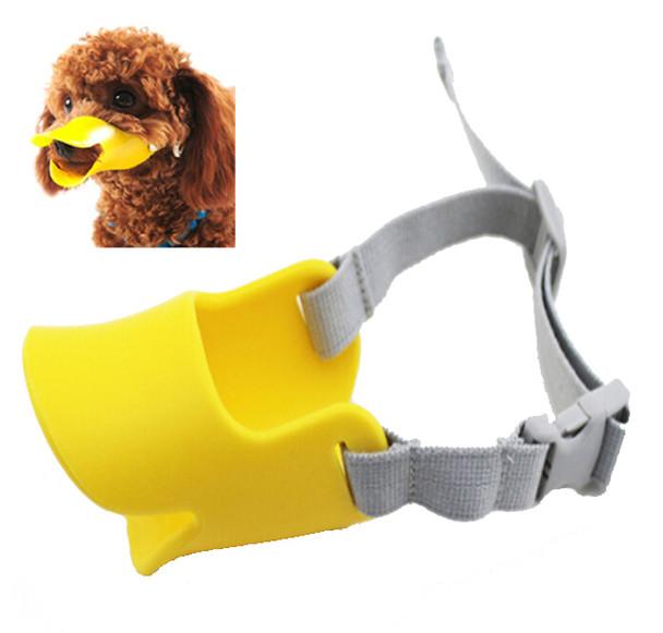 Yellow Silicone Duck Mask Dog Muzzle