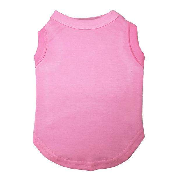 Pink Plain Dog Vest