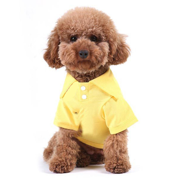 Yellow Plain Dog Polo T-Shirt