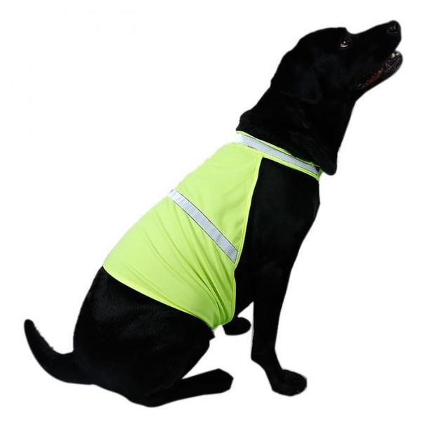 Yellow Fluorescent Hi-Vis Dog Safety Vest