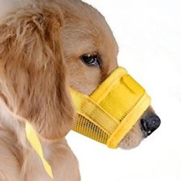 Yellow Mesh Dog Muzzle