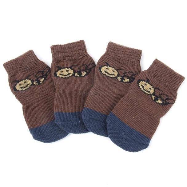 Brown Bumble Bee Dog Socks