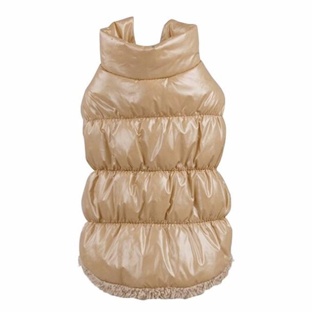 Beige Dog Body Warmer Coat
