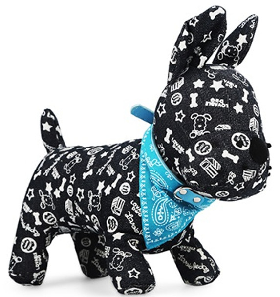 Sky Blue Paisley Dog Bandana Collar