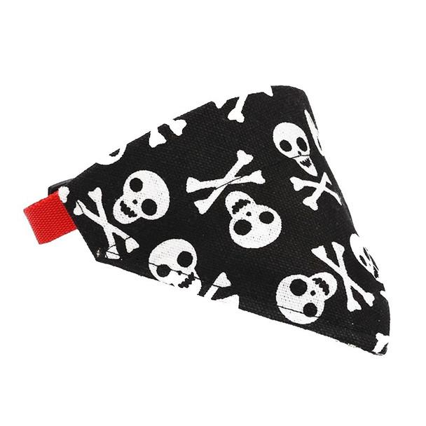 Black Skull Dog Bandana Collar