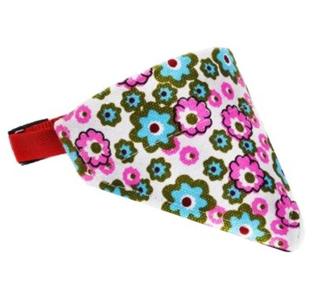 Bright Flowers Dog Bandana Collar